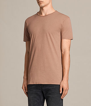 Mens Figure Crew T-Shirt (CLAY RED) - product_image_alt_text_3