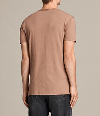 Mens Figure Crew T-Shirt (CLAY RED) - product_image_alt_text_4