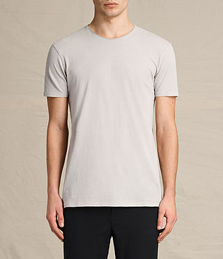 Hombres Figure Crew T-Shirt (ALMOND GREY)
