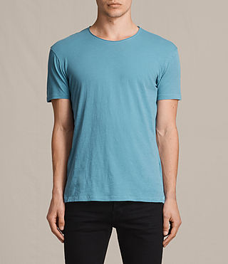 Mens Figure Crew T-Shirt (AZURE BLUE) - product_image_alt_text_1