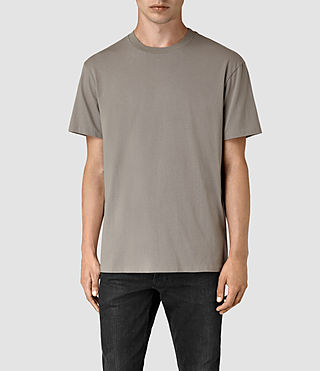 Mens Jupiter Crew T-Shirt (Putty Brown) - product_image_alt_text_1