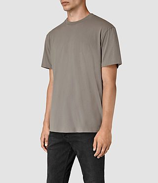 Mens Jupiter Crew T-Shirt (Putty Brown) - product_image_alt_text_2