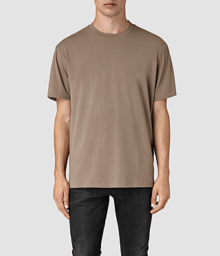 Mens Jupiter Crew T-Shirt (BATTLE BROWN) - product_image_alt_text_1