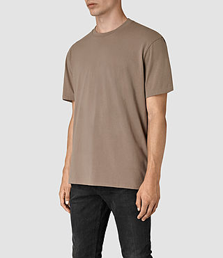 Mens Jupiter Crew T-Shirt (BATTLE BROWN) - product_image_alt_text_2