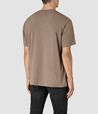 Mens Jupiter Crew T-Shirt (BATTLE BROWN) - product_image_alt_text_3