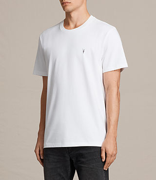Mens Morten Crew T-Shirt (Optic White) - Image 3
