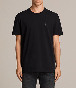 Mens Morten Crew T-Shirt (Jet Black) - Image 1