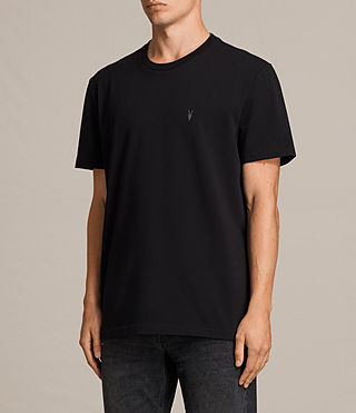 Mens Morten Crew T-Shirt (Jet Black) - Image 3