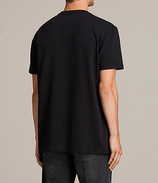 Mens Morten Crew T-Shirt (Jet Black) - Image 4