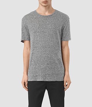 Mens Aurora Crew T-Shirt (Charcoal Marl) - product_image_alt_text_1