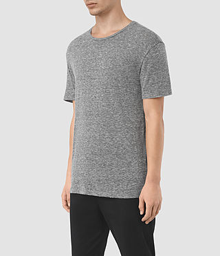 Mens Aurora Crew T-Shirt (Charcoal Marl) - product_image_alt_text_2