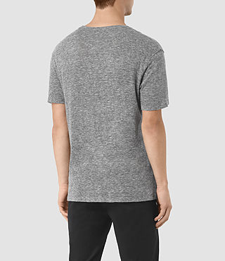 Mens Aurora Crew T-Shirt (Charcoal Marl) - product_image_alt_text_3