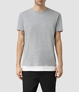 Mens Tripmet Crew T-Shirt (GRY MARL/CHALK WHT)
