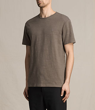 Hombres Topher Crew T-Shirt (Washed Khaki) - product_image_alt_text_3