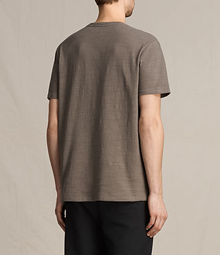Hombres Topher Crew T-Shirt (Washed Khaki) - product_image_alt_text_4