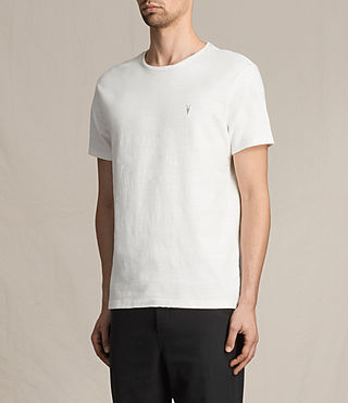Mens Topher Crew T-Shirt (Chalk White) - product_image_alt_text_3