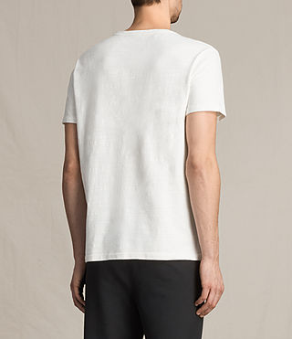Mens Topher Crew T-Shirt (Chalk White) - product_image_alt_text_4