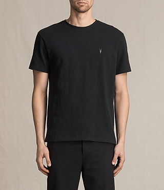 Mens Topher Crew T-Shirt (Jet Black) - product_image_alt_text_1