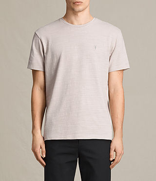 Hombres Topher Crew T-Shirt (ALMOND GREY)