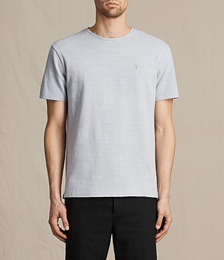 Mens Topher Crew T-Shirt (DOVE BLUE) - product_image_alt_text_1