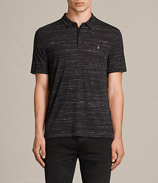 Herren Stanley Polo Shirt (Washed Black) - Image 1