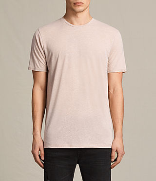Men's Famera Crew T-Shirt (OAT PINK) - product_image_alt_text_1