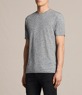Uomo Famera Crew T-Shirt (Charcoal Marl) - product_image_alt_text_2
