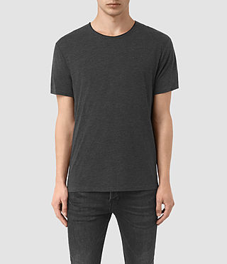 Mens Sibyl Crew T-Shirt (CHARCOAL MRL/BLACK) - product_image_alt_text_1