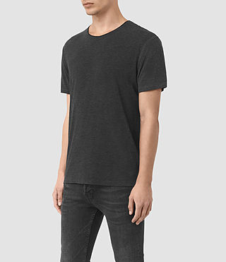 Herren Sibyl Crew T-Shirt (CHARCOAL MRL/BLACK) - product_image_alt_text_2