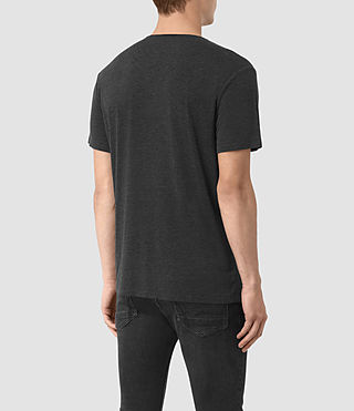 Mens Sibyl Crew T-Shirt (CHARCOAL MRL/BLACK) - product_image_alt_text_3