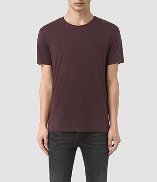 Hommes Sibyl Crew T-Shirt (DAMSON RED/ BLACK)