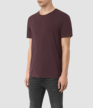 Herren Sibyl Crew T-Shirt (DAMSON RED/ BLACK) - product_image_alt_text_2