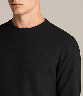 Men's Kraus Long Sleeve Crew T-Shirt (Jet Black) - Image 2