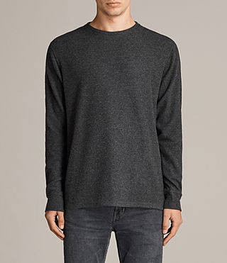 Men's Kraus Long Sleeve Crew T-Shirt (Charcoal Marl) - product_image_alt_text_1