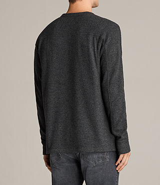 Men's Kraus Long Sleeve Crew T-Shirt (Charcoal Marl) - product_image_alt_text_3