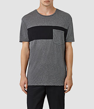 Hombres Twelve Crew T-Shirt (Charcoal/Black)