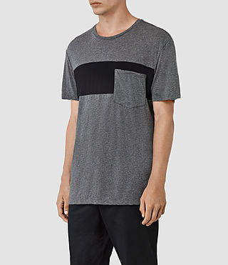 Herren Twelve Crew T-Shirt (Charcoal/Black) - product_image_alt_text_2
