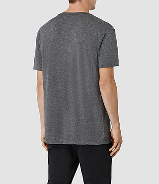 Herren Twelve Crew T-Shirt (Charcoal/Black) - product_image_alt_text_3