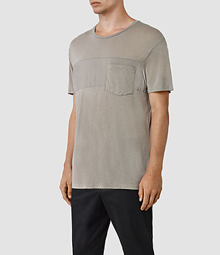 Hombres Twelve Crew T-Shirt (Putty Brown) - product_image_alt_text_2
