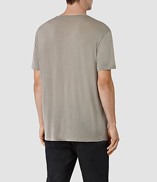 Hombres Twelve Crew T-Shirt (Putty Brown) - product_image_alt_text_3