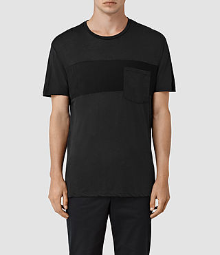 Herren Twelve Crew T-Shirt (Black/Black)