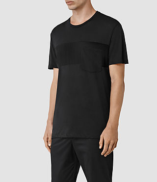 Hombre Twelve Crew T-Shirt (Black/Black) - product_image_alt_text_2