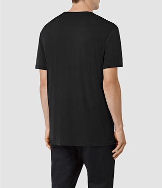 Hombre Twelve Crew T-Shirt (Black/Black) - product_image_alt_text_3