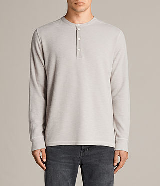 Men's Kraus Henley T-Shirt (Taupe Marl) - product_image_alt_text_1