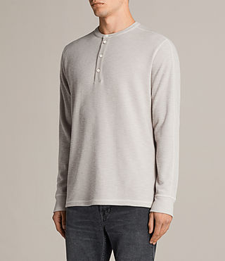 Men's Kraus Henley T-Shirt (Taupe Marl) - product_image_alt_text_3