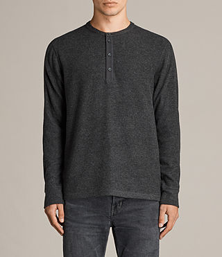 Men's Kraus Henley T-Shirt (Charcoal Marl) - product_image_alt_text_1