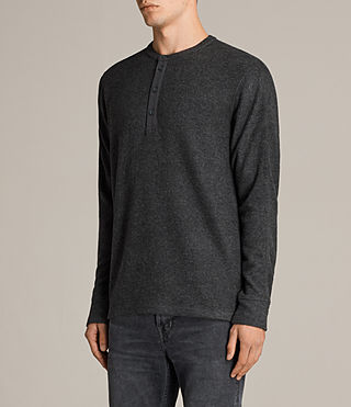 Men's Kraus Henley T-Shirt (Charcoal Marl) - product_image_alt_text_3