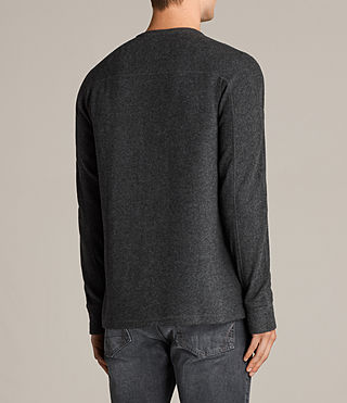 Mens Kraus Henley T-Shirt (Charcoal Marl) - product_image_alt_text_4