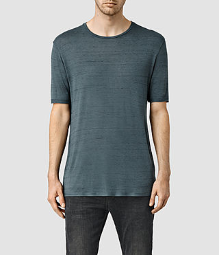 Mens Lareat Crew T-Shirt (GREY/DEEPOCEANBLUE)