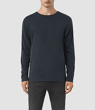 Hombres Tavern Long Sleeve Crew T-Shirt (Workers Blue)